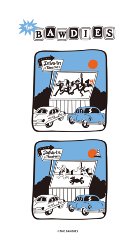 2019年7月(TAXMAN produce THE BAWDIES × Toyameg「Drive-in Theatre」T-SHIRT[WHITE])