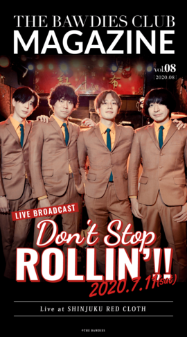 THE BAWDIES CLUB MAGAZINE vol.8 Front Coverデザイン