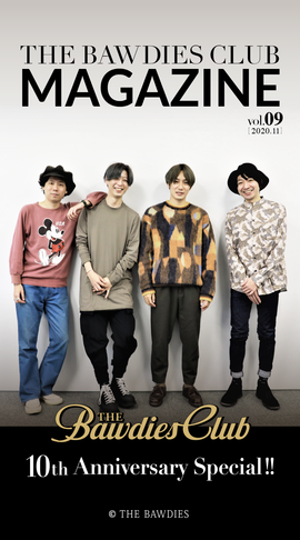 THE BAWDIES CLUB MAGAZINE vol.9 Front Coverデザイン
