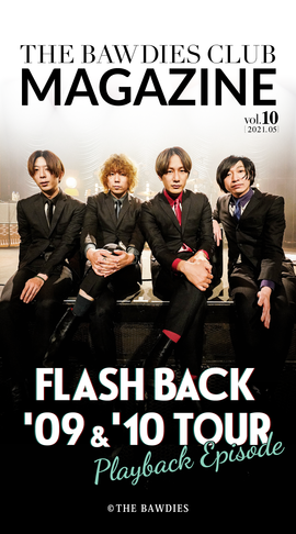 THE BAWDIES CLUB MAGAZINE vol.10 Front Coverデザイン